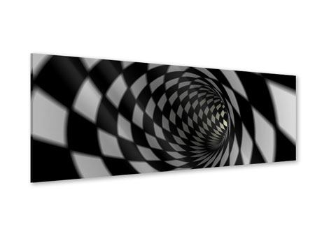 Panoramic Acrylic Print Abstract Tunnel Black & White