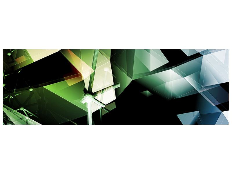 Panoramic Acrylic Print 3D Polygon