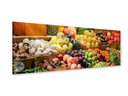 Panoramic Acrylic Print Fruit Market