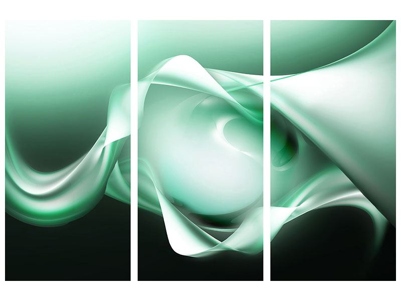 3 Piece Acrylic Print Abstract Close Contact