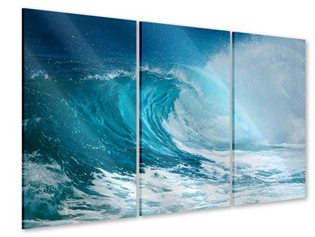 3 Piece Acrylic Print The Perfect Wave