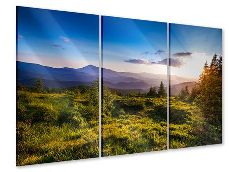 3 Piece Acrylic Print Peaceful Landscape