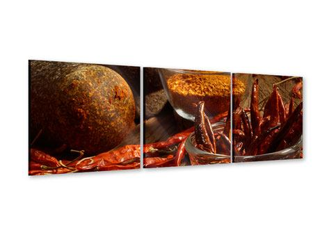 Panoramic 3 Piece Acrylic Print Chili