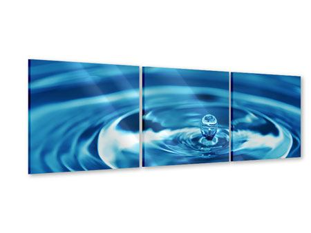 Panoramic 3 Piece Acrylic Print The Water Drops
