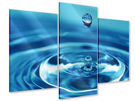 Modern 3 Piece Acrylic Print The Water Drops