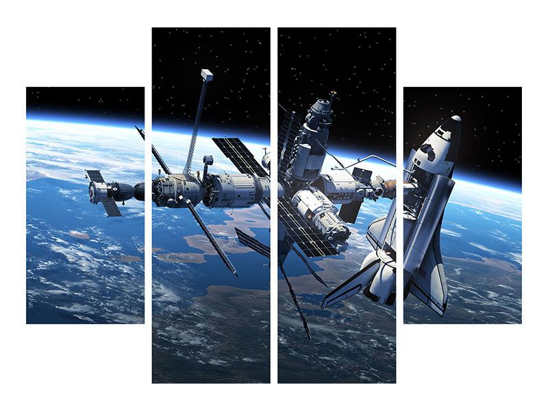 4 Piece Acrylic Print Satellite