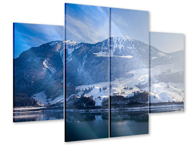 4 Piece Acrylic Print Winter Wonderland
