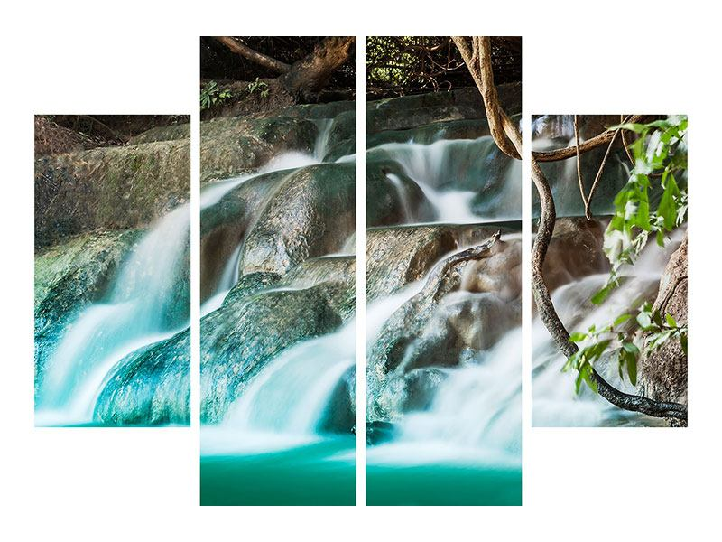 4 Piece Acrylic Print At The River Of Life