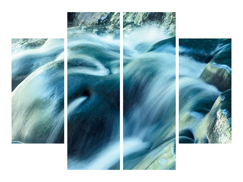 4 Piece Acrylic Print The Flowing Water