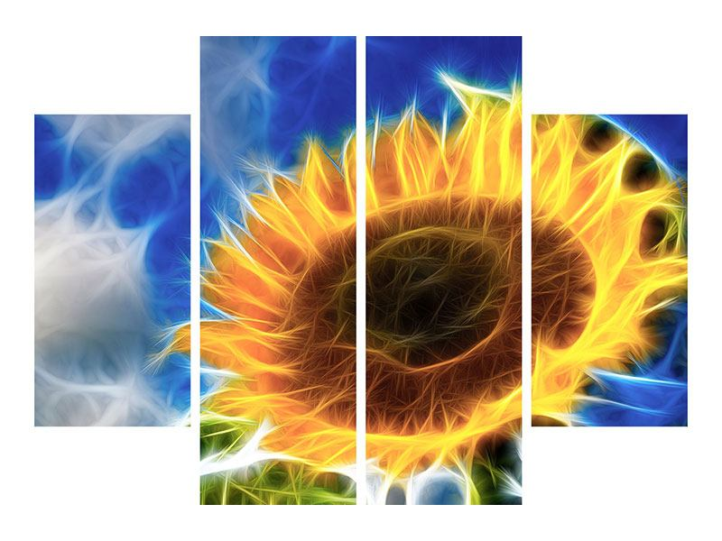 4 Piece Acrylic Print Against The Sun