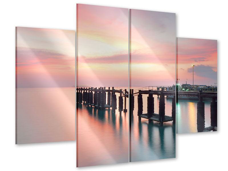 4 Piece Acrylic Print The Soothing Sunset