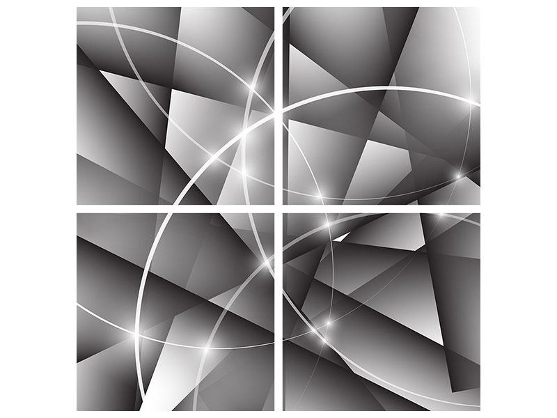 4 Piece Acrylic Print Geometry