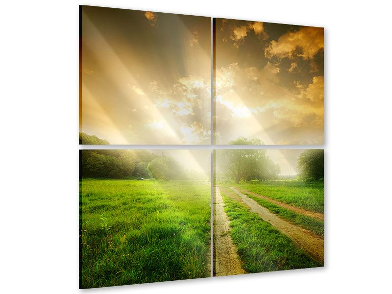 4 Piece Acrylic Print Mystic Sunset