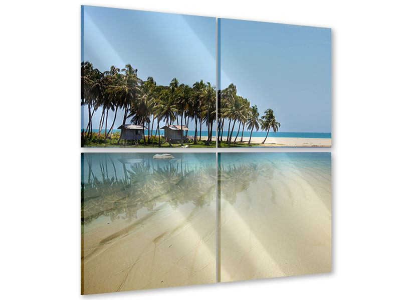 4 Piece Acrylic Print The Sea And The Island