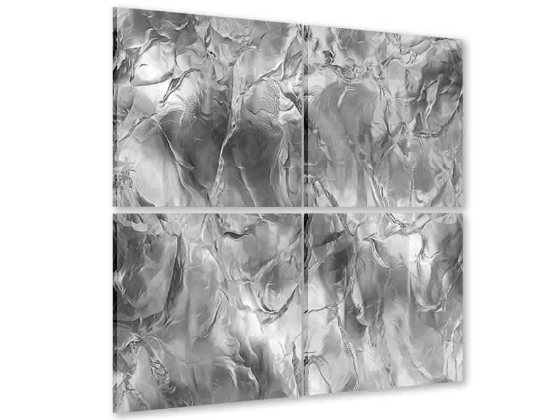 4 Piece Acrylic Print Ice Wall