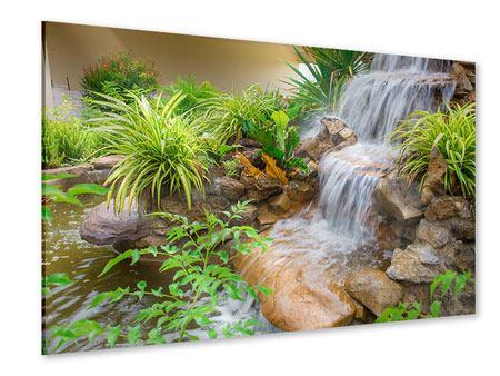 tableaux sur verre acrylique cascade