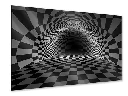 Acrylic Print Abstract Chessboard
