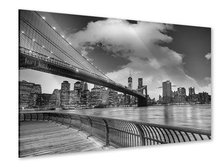 Acrylic Print Skyline Black And White Photography Brooklyn Bridge NY