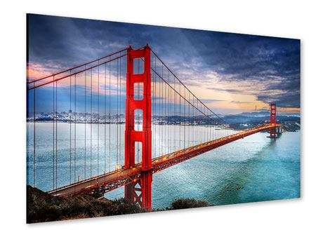 Stampa su acrilico Il Golden Gate Bridge al tramonto