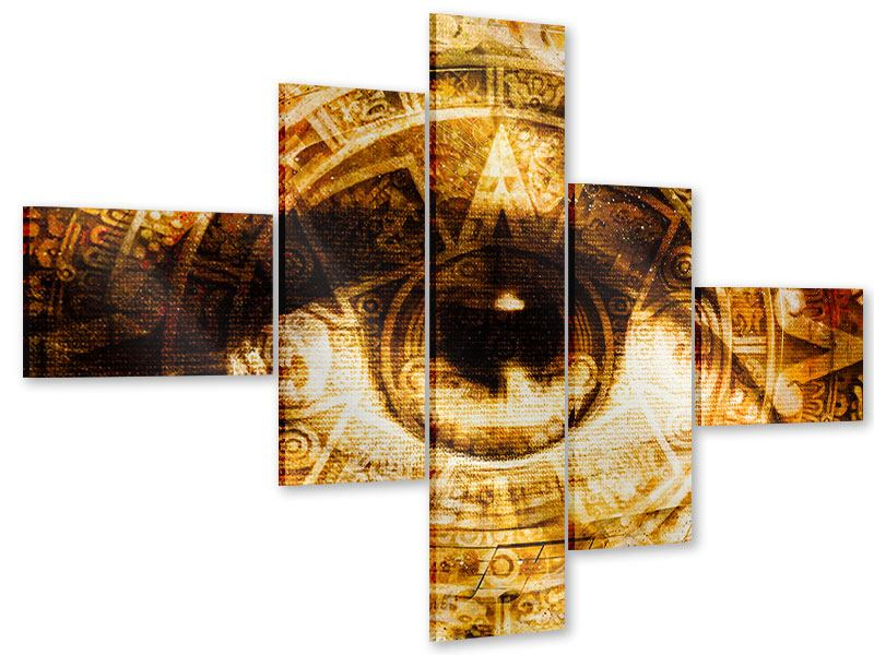 Modern 5 Piece Acrylic Print Fractally eye