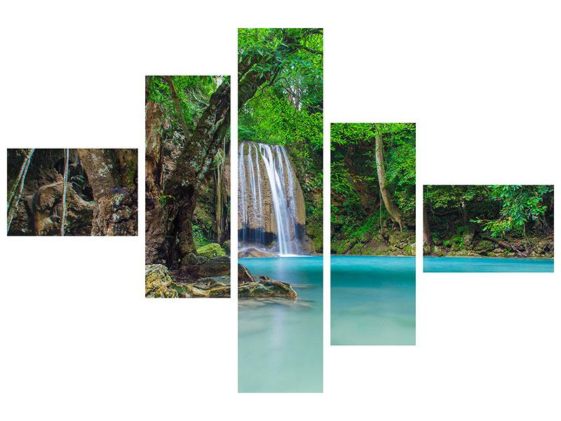 Modern 5 Piece Acrylic Print Watercourses