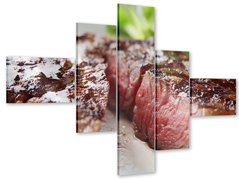 Modern 5 Piece Acrylic Print Perfect Beef Filet
