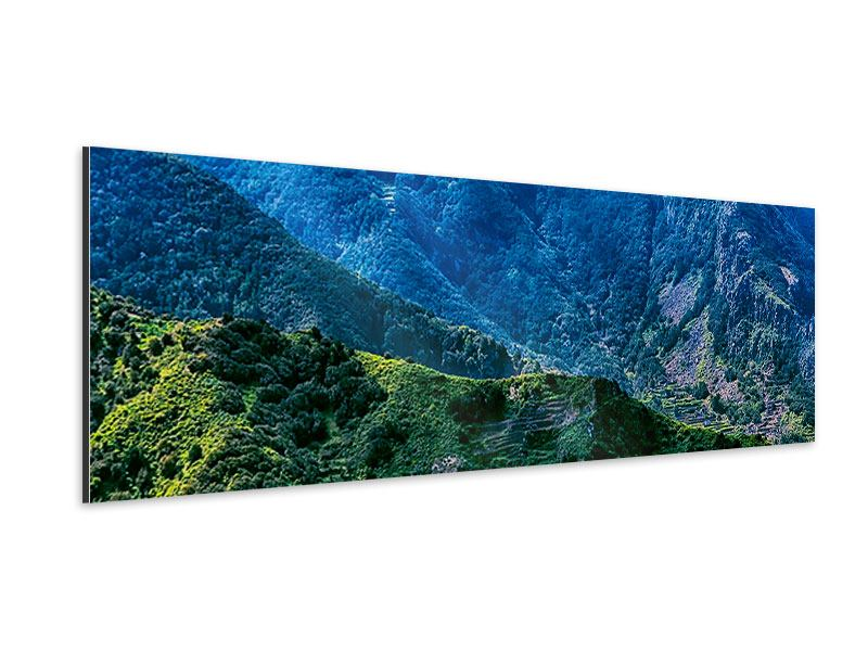 Panoramic Aluminium Print The Mountains