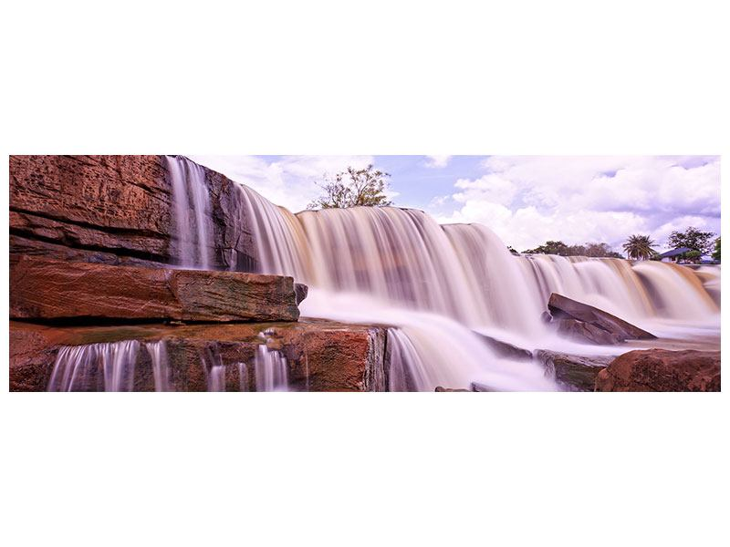 Panoramic Aluminium Print Heavenly Waterfall