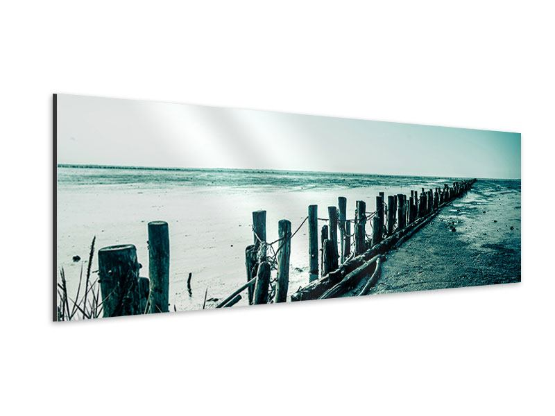 Panoramic Aluminium Print Mud Flats