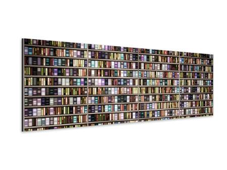 Panoramic Aluminium Print Bookshelf