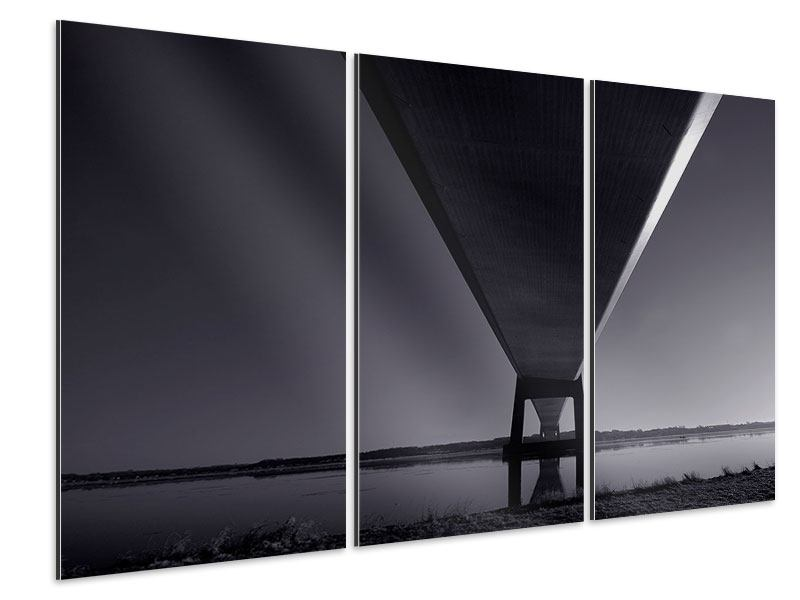 3 Piece Aluminium Print The Bridge Over Deep Water
