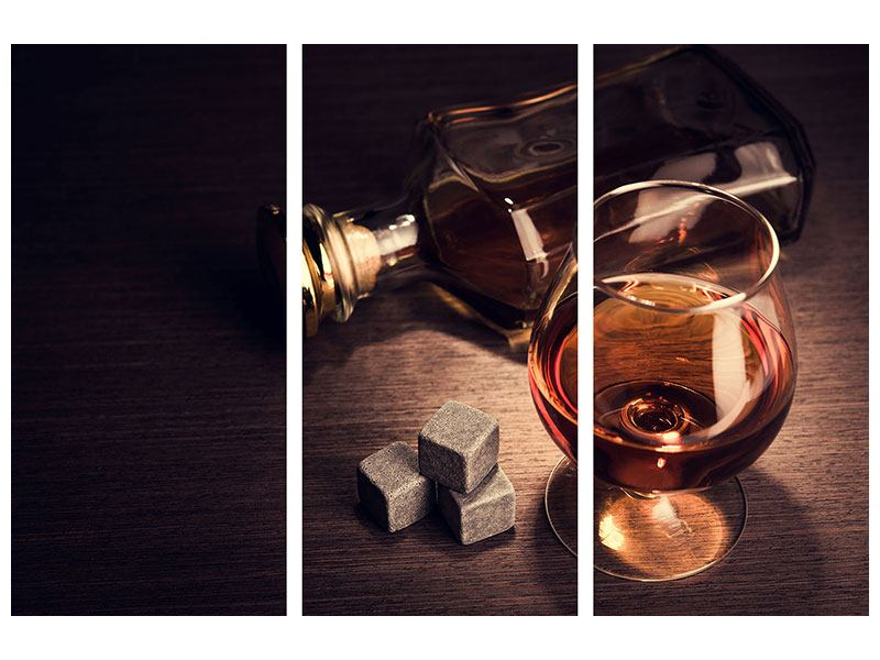 3 Piece Aluminium Print A Glass Of Cognac