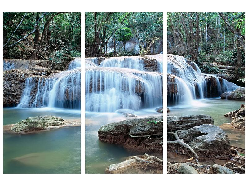 3 Piece Aluminium Print A Waterfall