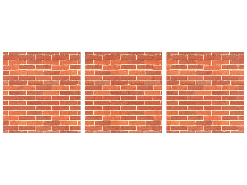 Panoramic 3 Piece Aluminium Print Bricks