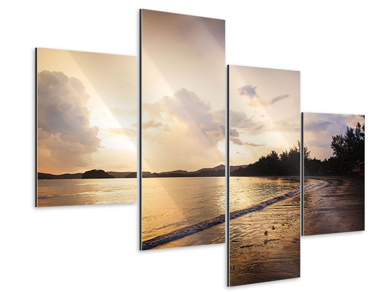 Modern 4 Piece Aluminium Print The Shore