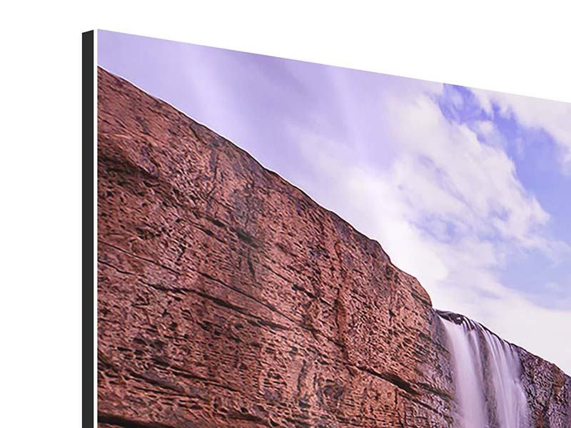 4 Piece Aluminium Print Heavenly Waterfall
