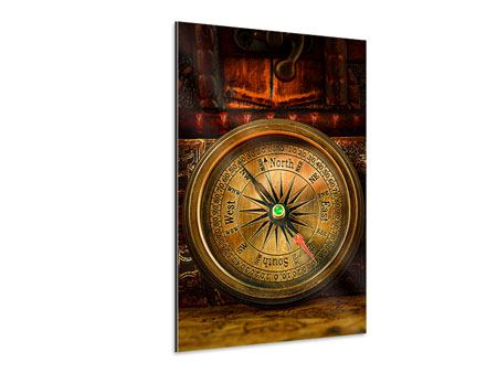Aluminium Print Antique Compass