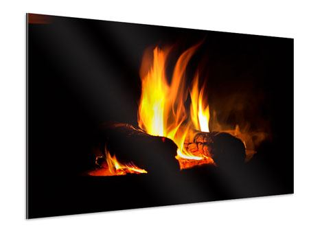 Aluminium Print The Fireplace