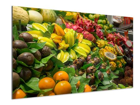 Tableau Aluminium Fruits