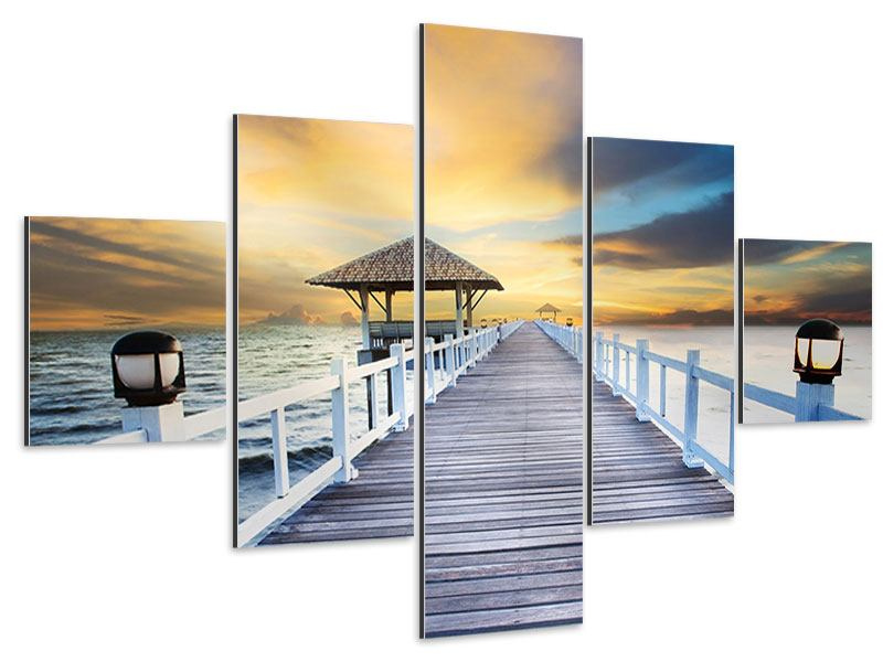 5 Piece Aluminium Print The Bridge Into The Sea