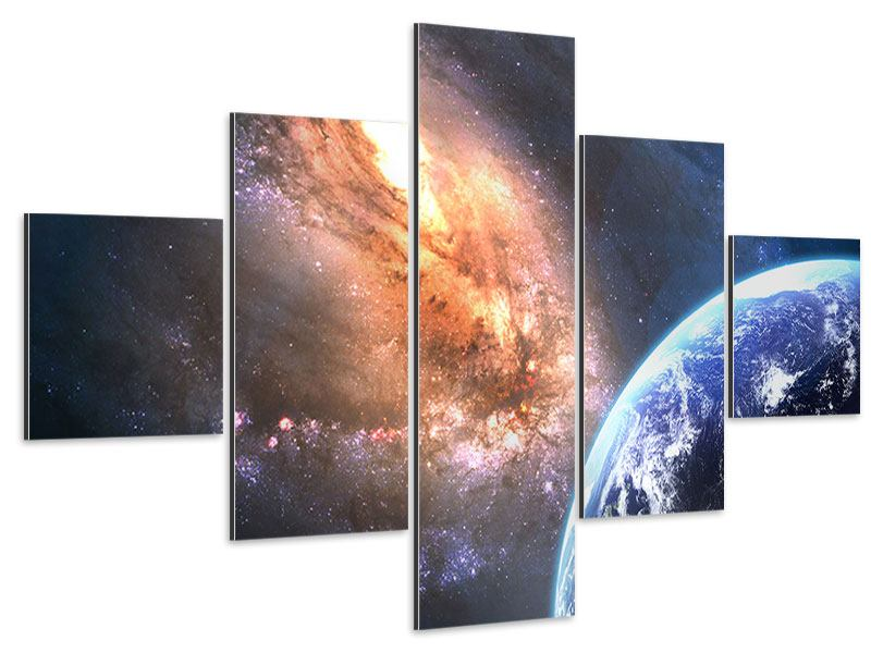 Tableau Aluminium en 5 parties Univers