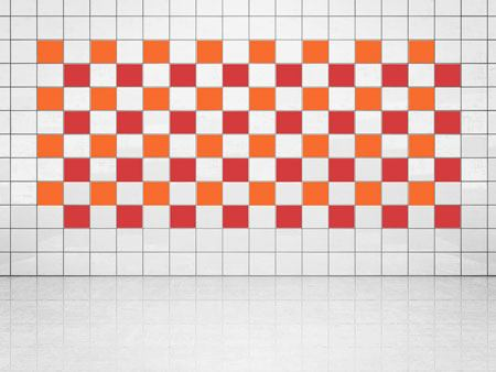 Tile Decor Bright Red (A737) and Orange (A705) Set of 20