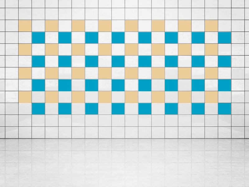 Tile Decor Sky Blue (A784) and Cream (A719-01) Set of 20
