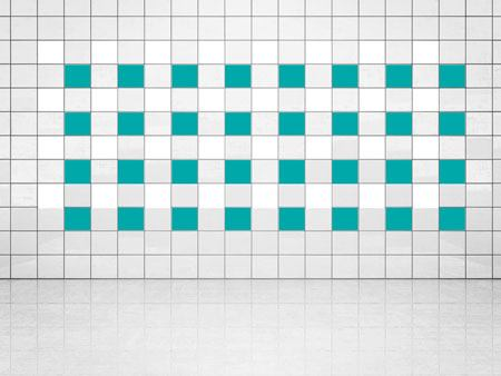 Tile Decor Turquoise (A731) and White (A700) Set of 20