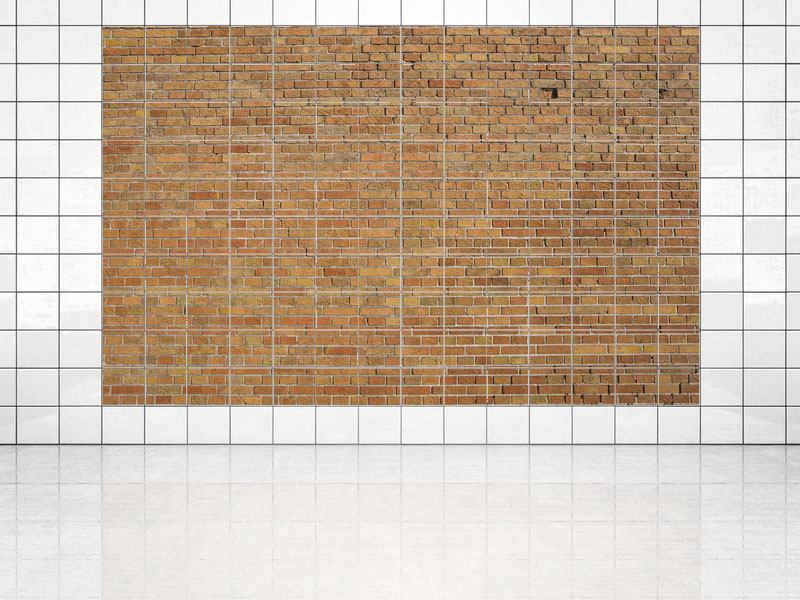 Tile Print Brick Background