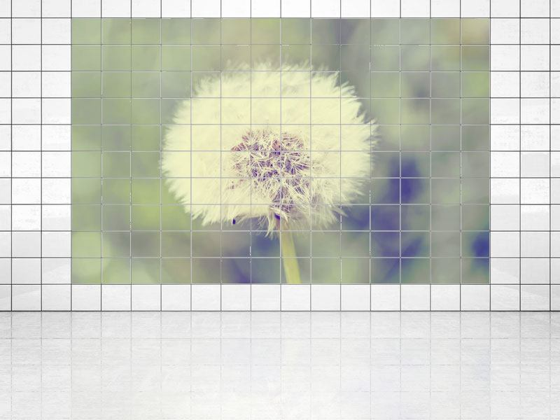 Tile Print The Dandelion