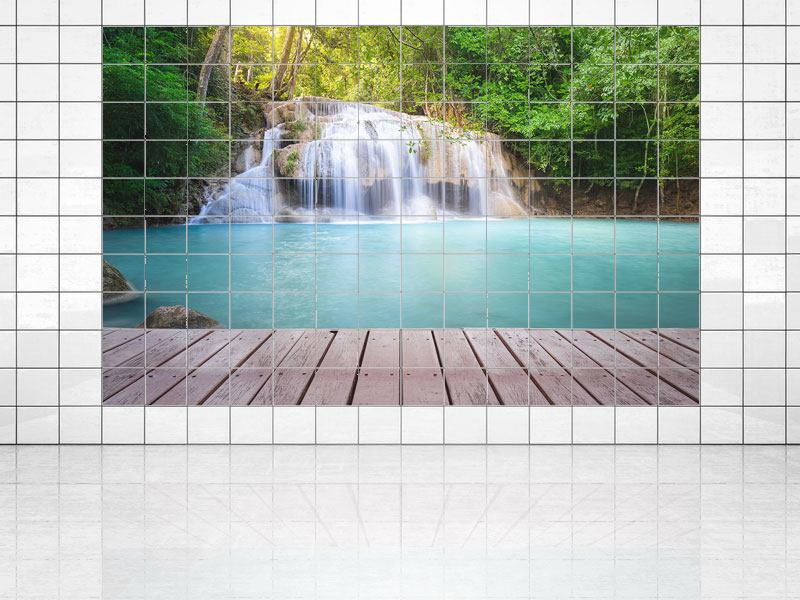 Tile Print Terrace At The Waterfall