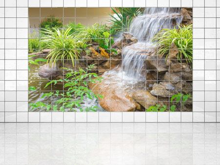 Tile Print Garden Of Eden