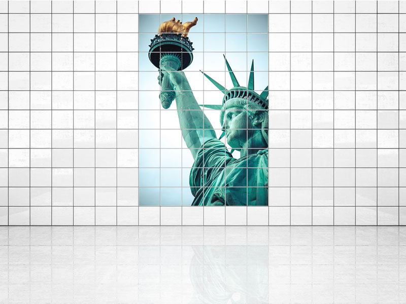 Tile Print Lady Liberty