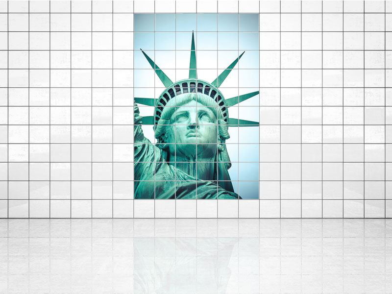 Tile Print Statue of Liberty